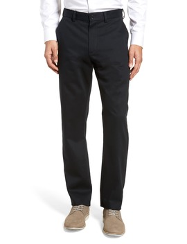 Wrinkle Free Straight Leg Chinos by Nordstrom Men's Shop