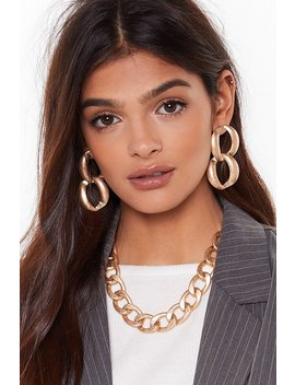 Right As Chain Necklace And Earrings Set by Nasty Gal