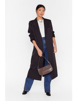 I'll Get To Work Relaxed Longline Blazer by Nasty Gal