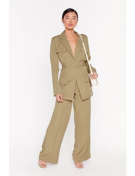 Give 'em The Suit Longline Utility Blazer by Nasty Gal