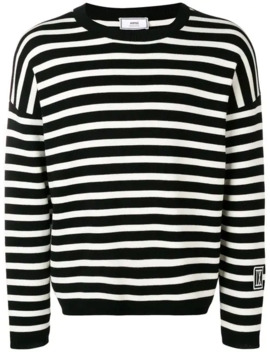 Stripped Patch Ix Sweater by Ami Paris