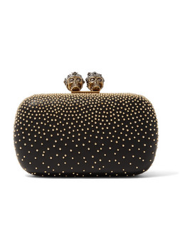 Queen & King Embellished Leather Clutch by Alexander Mc Queen
