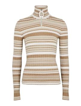 Brown Striped Wool Jumper by Jw Anderson