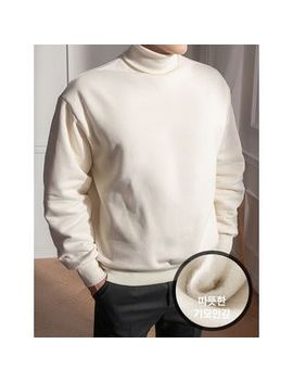 Styleman   Turtle Neck Fleece Lined Pullover by Styleman