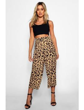 Petite Leopard Print Culottes by Boohoo