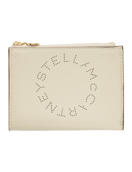 White Eco Soft Small Logo Pouch by Stella Mccartney