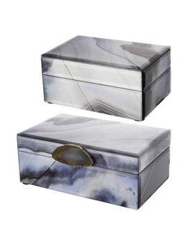 A & B Home Decorative Storage Box   Set Of 2 by A & B Home