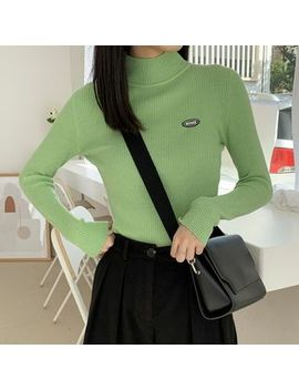 Dute   Mock Turtleneck Knit Top by Dute