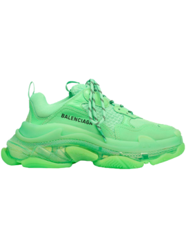 Balenciaga Triple S Neon Green Clear Sole (W) by Stock X