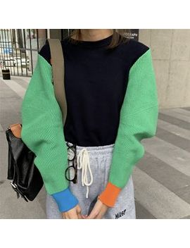 Dute   Color Block Sweater by Dute