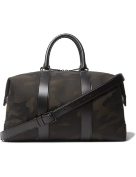 Leather Trimmed Camouflage Print Canvas Holdall by Mr Porter