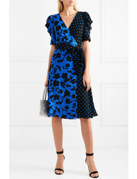Siona Wrap Effect Printed Silk Crepe De Chine Dress by Alice + Olivia