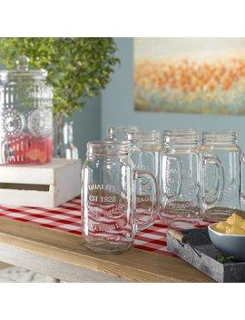 Mannford 22 Oz. Glass Mason Jar by Gracie Oaks