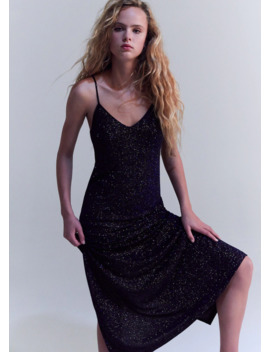 Langes Glitter Kleid by Mango