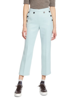 X Atlantic Pacific Button Detail Kick Flair Pants by Halogen®