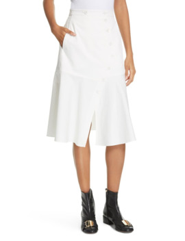 Dominic Flare Twill Skirt by Tibi