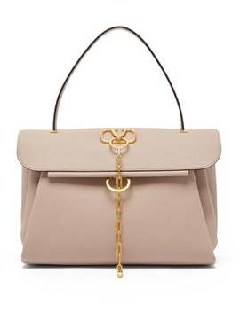V Chain Medium Leather Bag by Valentino