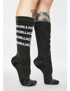 Metallica Stack Crew Socks by Stance