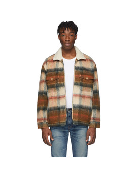 Brown Wool Sherpa Ranch Coat by Levi's Made & Crafted