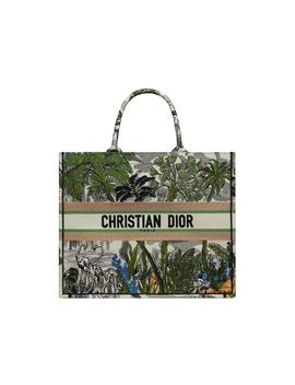 Dior Book Tote Toile De Jouy Tropicalia Leaf Green Multicolor by Stock X