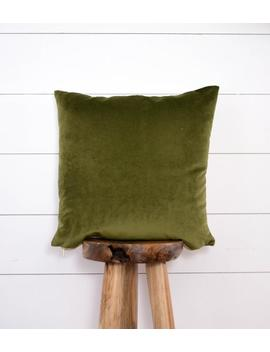 Moss Velvet Pillow, Olive Pillow Cover, Green Velvet Decorative Pillow by Etsy