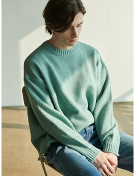 Overfit Crewneck Knit Mint Green by Anoutfit