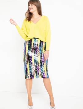 Sequin Column Skirt by Eloquii