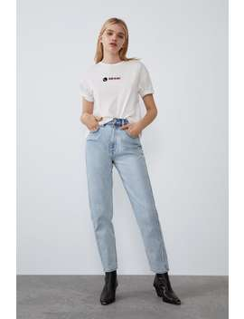 Printed Text T Shirt by Zara