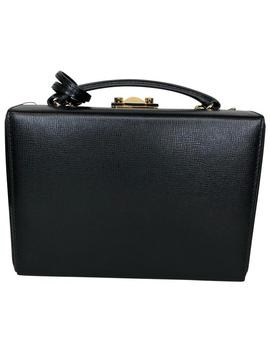Box Grace Small Black Calfskin Leather Cross Body Bag by Mark Cross