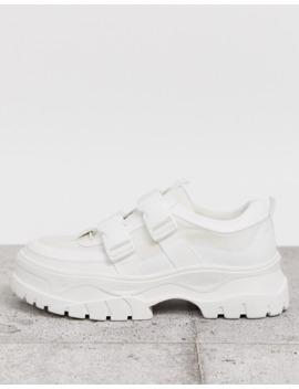 Asos Design – Weiße Sneakers Mit Dicker Sohle Und Riemen by Asos