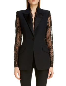 Lace Detail Jacket by Alexander Mcqueen