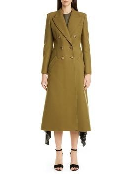 Double Breasted Three Quarter Wool Blend Coat by Altuzarra