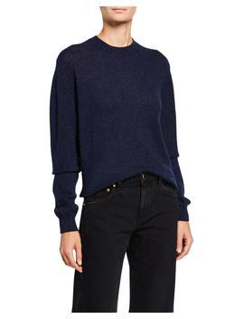Viola Cashmere Crewneck Sweater by Khaite