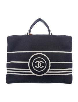 Small Denim Cc Tote by Chanel