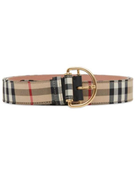 Vintage Check Cotton Blend D Ring Belt by Burberry