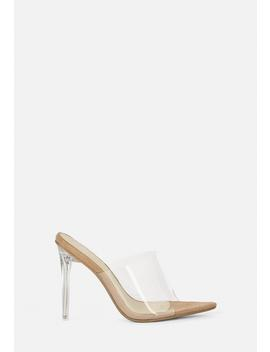 Nude Pointed Toe Clear Mules by Missguided