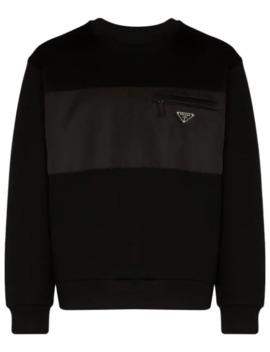 Sweatshirt Mit Kontrasteinsatz by Prada