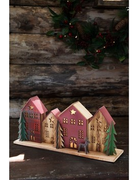 Wooden House Lit Scene by Next