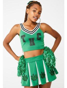 High Spirited Cheerleader Costume Set by Dolls Kill
