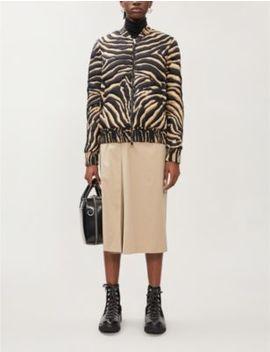 Abricot Zebra Print Padded Shell Down Jacket by Moncler