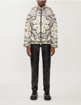 Graphic Print Padded Shell Down Jacket by Moncler