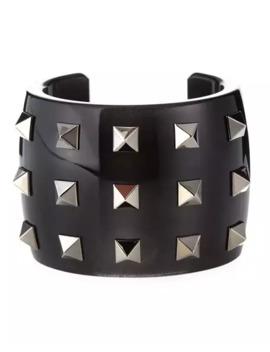 Valentino Acrylic Stud Cuff, Black by Valentino