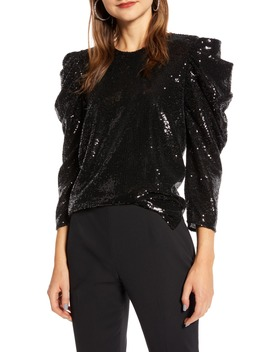 Sequin Night Out Top by Something Navy