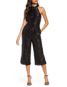 Crop Sequin Jumpsuit by Forest Lily