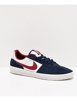 Nike Sb Team Classic Navy, Obsidian Red & White Skate Shoes by Nike Sb