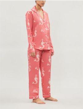 Sirena Cotton Poplin Pyjama Set by Desmond And Dempsey