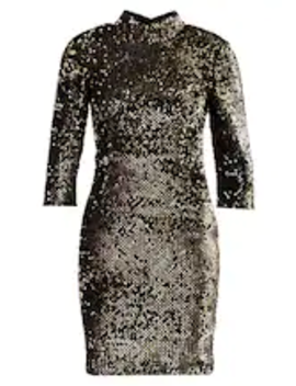 Sequin High Neck Dress   Cocktailkjoler / Festkjoler by Dorothy Perkins Petite