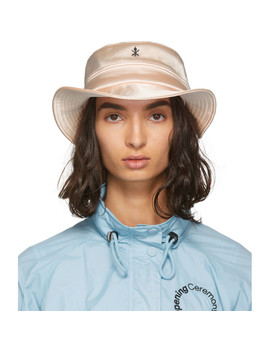Pink Satin Bucket Hat by Opening Ceremony