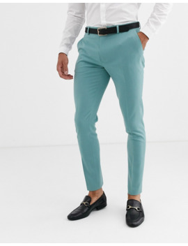 Asos Design Super Skinny Suit Trousers In Sea Green by Asos Design