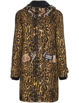 Cramond Animal Print Coat by Burberry
